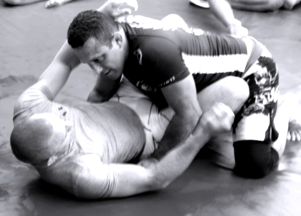Georges St. Pierre and Renzo Gracie Practicing