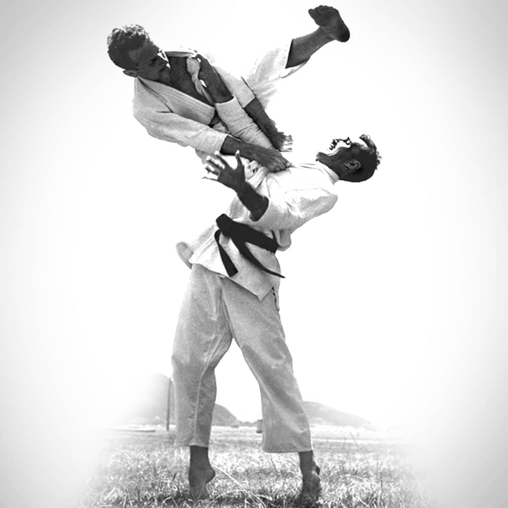 Carlos and Helio Gracie Practicing Jiu-Jitsu