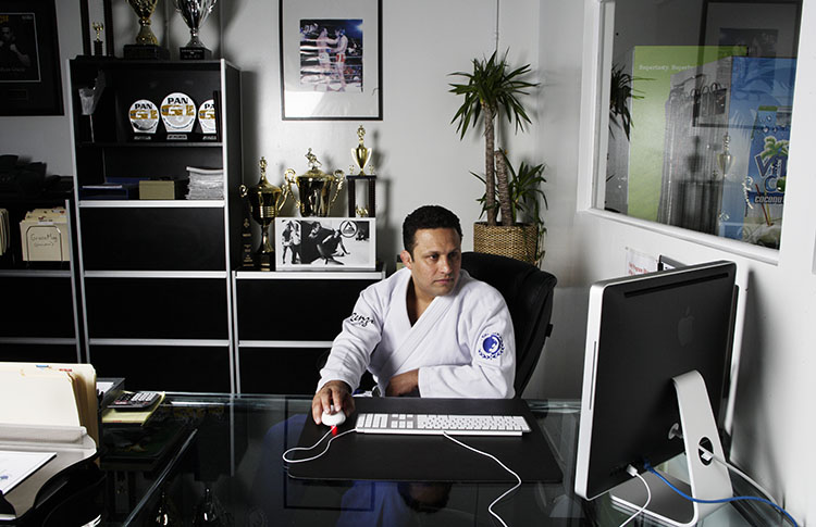 Renzo Gracie at his office