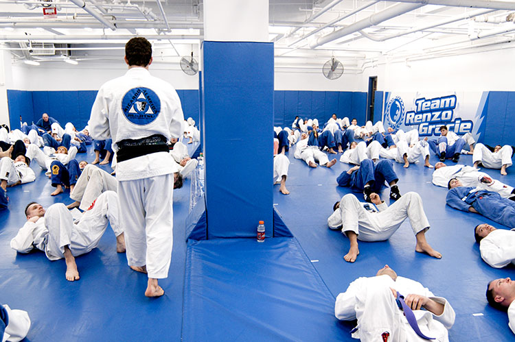 Training at Renzo Gracie Academy in Midtown Manhattan